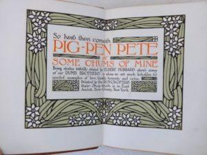 Pig Pen Pete Book Elbert Hubbard