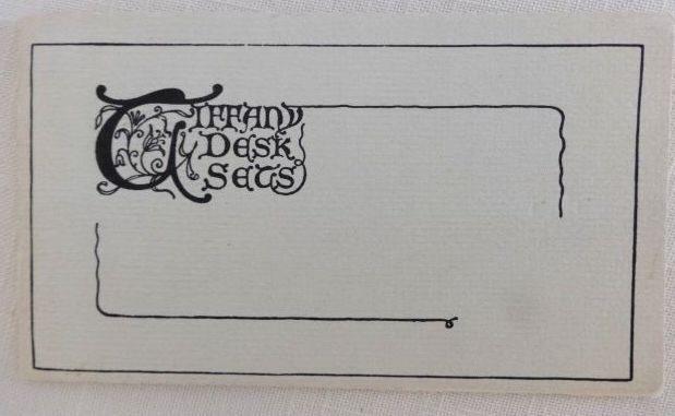 Tiffany Desk Sets Original Catalog