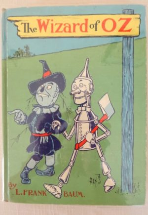 Wizard of Oz book Denslow blue poster cover