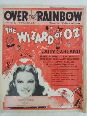 Over the Rainbow Sheet Music Judy Garland 1939