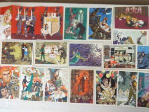 Russian 3 Fat Men Postcards Vladimirsky