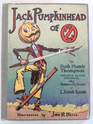 Jack PumpkinHead of oz book Copp Clark 1st edition ruth plumly thompson