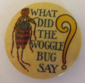 Wogglebug Button Wizard of Oz