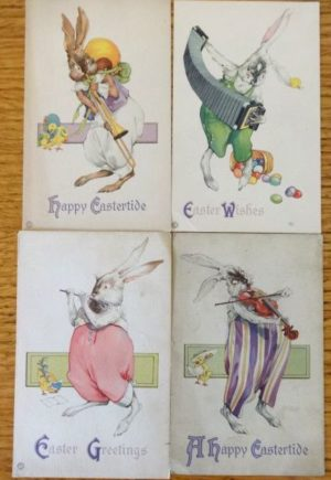 john r neill postcard rabbit easter bunnies