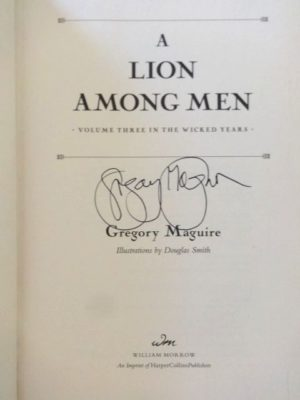 Lion among men book signed maguire wicked