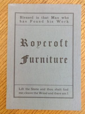Roycroft Furniture Catalog 1906