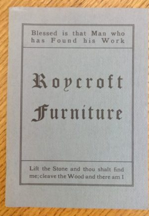 Roycroft Furniture Catalog 1906