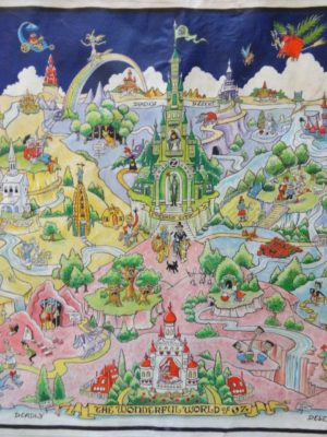 Dick Martin Map Original Art Wonderful World of Oz Map Wizard of Oz
