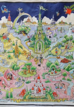 Dick Martin Map Original Art Wonderful World of Oz Map Wizard of Oz