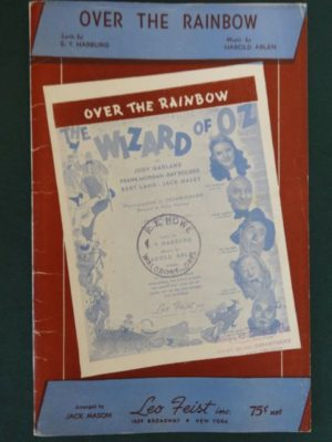 Over the Rainbow Orchestra Score Music 1939