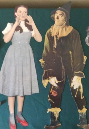 1991 wizard of Oz Paper Cutouts