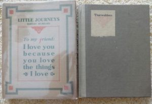 Little Journeys in dust jacket roycroft thorwaldsen
