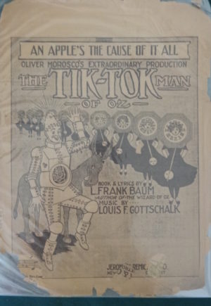 An apple's the cause of it all, tik tok man of oz, sheet music, l frank baum, 1913, musical