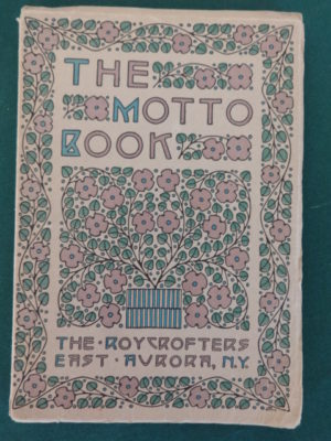 Motto Book dard Hunter book elbert hubbard roycroft