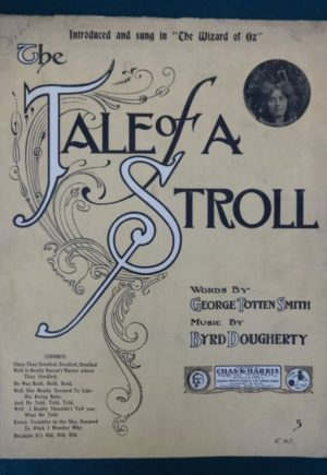 Tale of a stroll wizard of oz sheet music musical 1902 1905