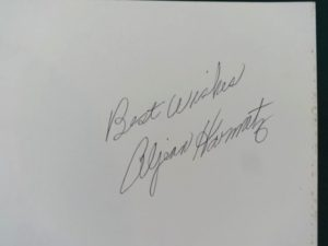 Making of the Wizard of Oz Unused Cover, Signed Aljean Harmetz Author