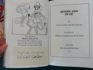 QUEEN ANN IN OZ HC/DJ Signed Author Illustrator Ltd Edn Wizard of Oz Book