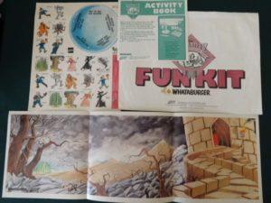 Whataburger wizard of oz fun kit 1989 game