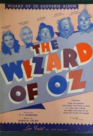 Wizard of Oz Souvenir Album 1939 music