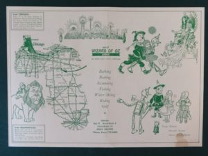 ozcot wizard of oz map brochure denslow ozmapolitan