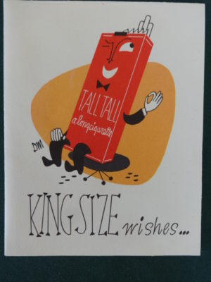 Dick Martin Smoking Cigarette Birthday Card