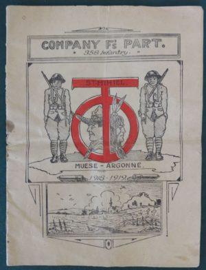 Company F Army Book WWI History
