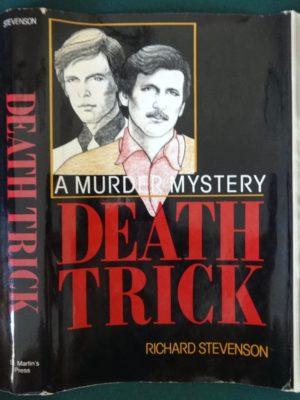 Death Trick book signed Stevenson Gay Interest