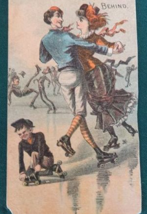 w w Denslow Skating Tradecard wizard of oz