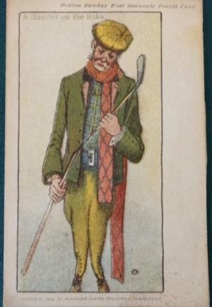 john r Neill Disaster on the Links 1904 golf Postcard