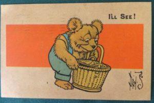 Teddy Bear Bread postcard w w denslow