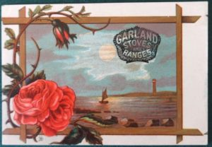 Trade Card Garland stoves W W Denslow Baker & Hayes