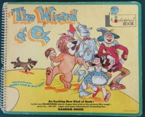 WIZARD OF OZ COLORFORMS BOOK Hard-to-Find ca. 1960 Sticker Book Color-forms