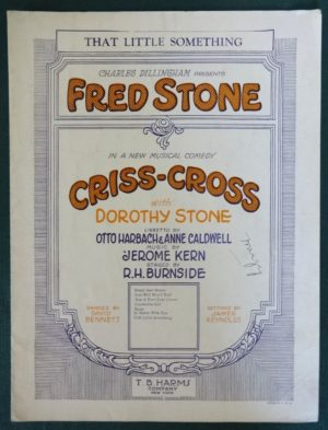 Fred Stone Sheet Music criss cross dillingham sunny