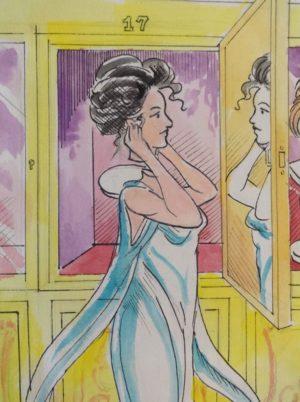 Vincent Myrand Langwidere Wizard of Oz Original Art