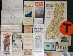 New Zealand Brochure Vintage Lot Hermitage Steamship