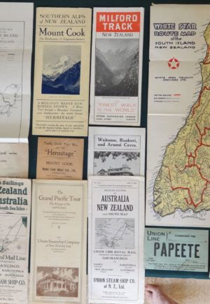 New Zealand Brochure Vintage Lot Hermitage Steamship