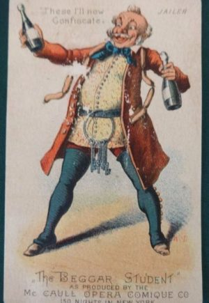 Denslow Beggar Student Trade Card Jailer