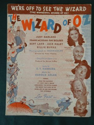 Off to See the Wizard Sheet Music 1939 Jitterbug