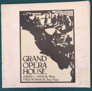 Grand Opera House 1902 Wizard of Oz Play Program Playbill