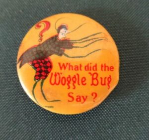 Wooglebug pin wizard of oz what did the woggle bug say pinback button