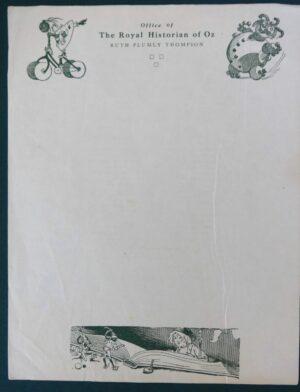 Ruth Plumly Thompson Original Stationery letterhead