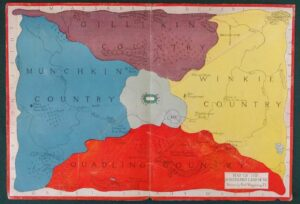 Wizard of Oz Land of Oz Map 1920