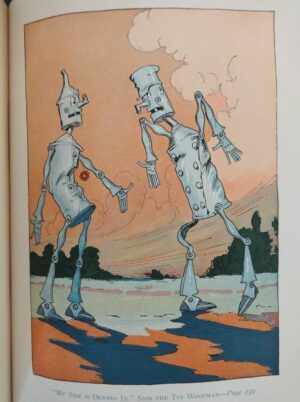 Tin Woodman of oz book l frank baum color plates