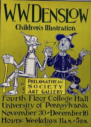 W W Denslow Philomathean Society Poster 1977 Exhibit