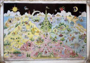 Wonderful World of Oz Wizard of Oz Dick Martin Map Poster