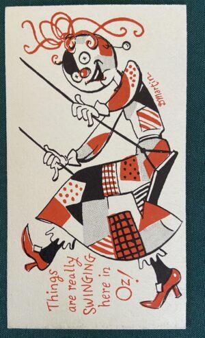 Dick Martin Postcard Patchwork Girl of Wizard of Oz