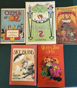 wizard of oz book lot l frank baum sky island queen zixi emerald city ozma kabumpo